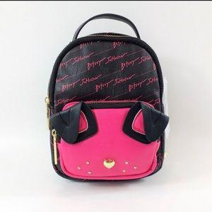 Betsy Johnson mini backpack / purse
